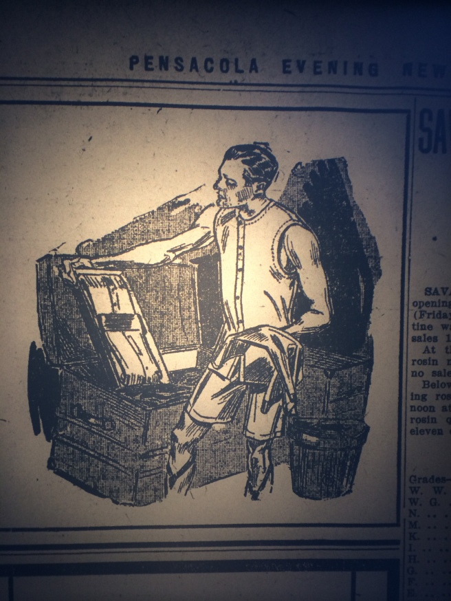 Tah-dah! And check out the garters! Source: Pensacola Evening News, 1909