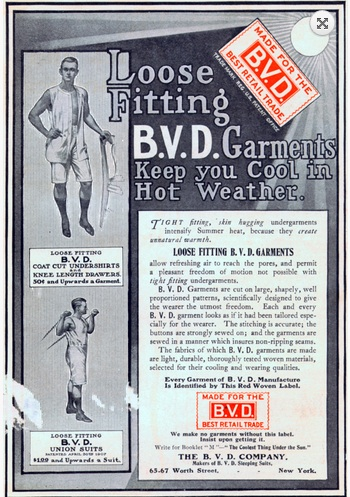 BVDs for any occasion. Source: Vintage Skivvies and Hampton's Magazine.