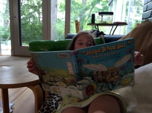 She's read this book three times already. We checked it out from the library yesterday.