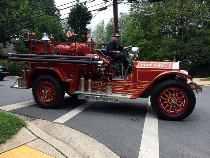 Bethesda Fire Department's 1926 engine led the parade!