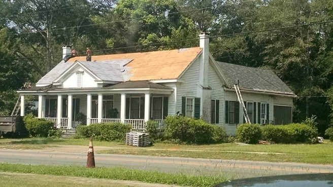 new roof on Emmett's home