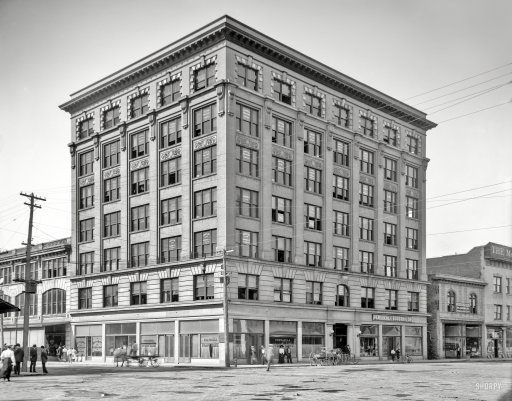 The Blount Building, 1908. Source: Shorpy.com