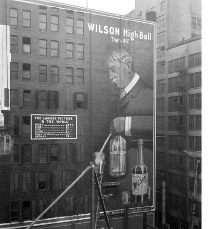 "Wilson Whiskey, and the two-word slogan: ""That's All."" Source: Pinterest.com"