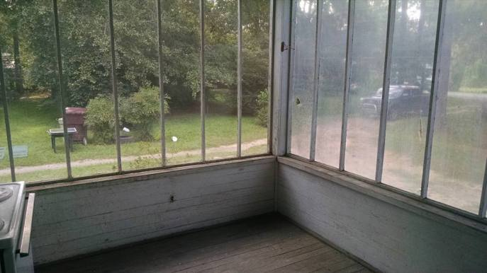 The screened-in porch is getting a nice renovation, too.