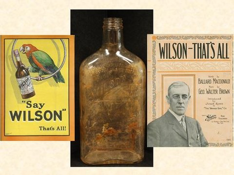 An interesting story from the blog Tales of Things and how Wilson Whiskey connected to Woodrow Wilson, just as temperance was more widespread.
