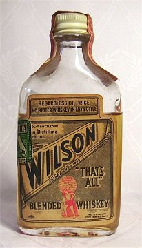 A half-empty bottle of Wilson Whiskey. Source: www.ne.jp