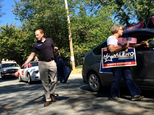 Does your heart good to see the candidates out of the cars, mingling and slinging hard candy.