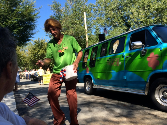 That is Shaggy, not Trump with a really bad hair day, handing out snacks to my kids.