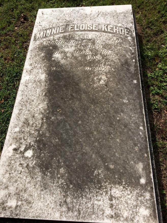 Minnie Eloise Kehoe. Requiescat in pace.