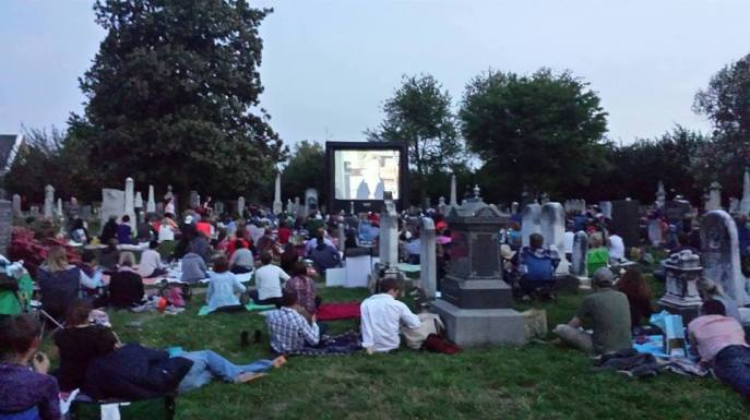 Tonight, September 26, is movie night at Congressional Cemetery, Washington, D.C. Source: Congressional Cemetery