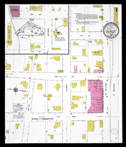 Chipley, 1913. Sanborn Fire Insurance map. Souce: UFDC