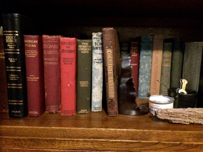 Pam and Brett have the most wonderful collection of antique books from Emmett's time (and earlier).