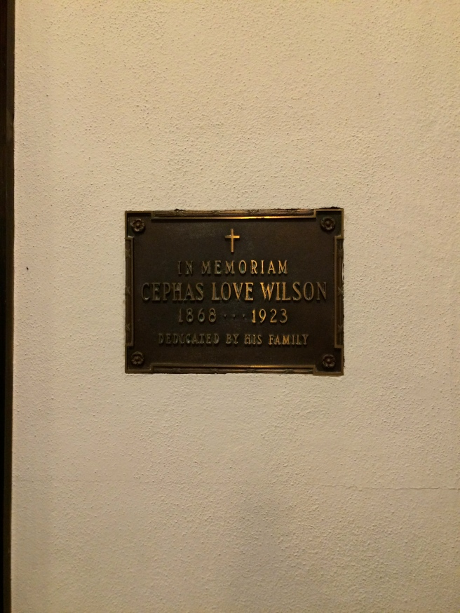 Ceph's plaque in St. Luke's Episcopal Church, Marianna.