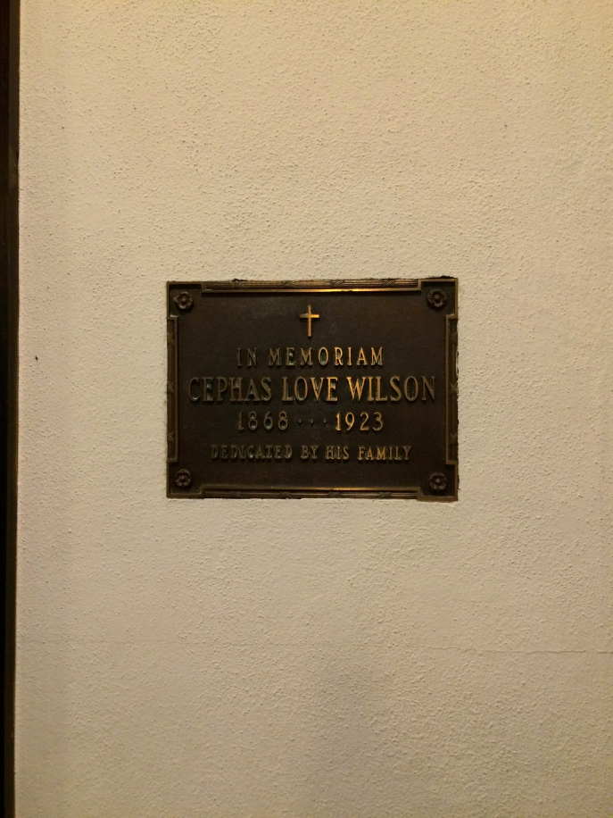 Ceph's plaque in St. Luke's Episcopal Church, Marianna.