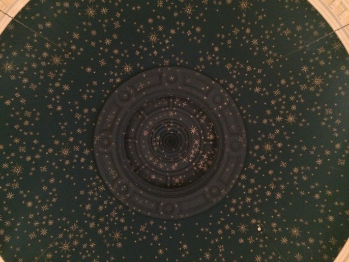 Stars. Hundreds of them. Painted onto the dome of the ceiling.