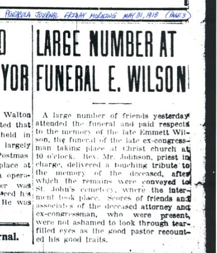 Emmett's funeral at Christ Church.