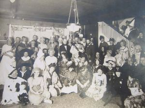 A Halloween party from 1915. No Theda Baras or anything shocking in there (at least shocking from 2015 standards). Source: pinterest.com