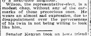 It's a joke, but as we know, there can be a lot of truth in humor. Source: The Daily Northwestern, Oshkosh, Wisconsin, 1912.