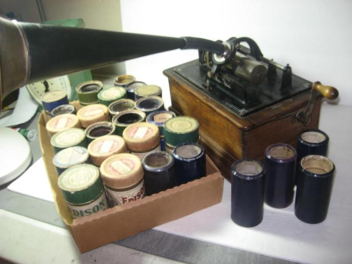 A nice set of wax cylinders. Source: Ebay