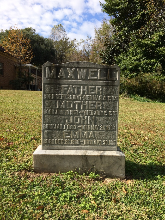 Father is Simeon; Mother is Emma O Maxwell. The youngest daughter was also named Emma.