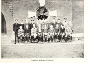 Platonic Debating Society, 1900. Emmett is in the back row, fifth from left. Source: FSU archives