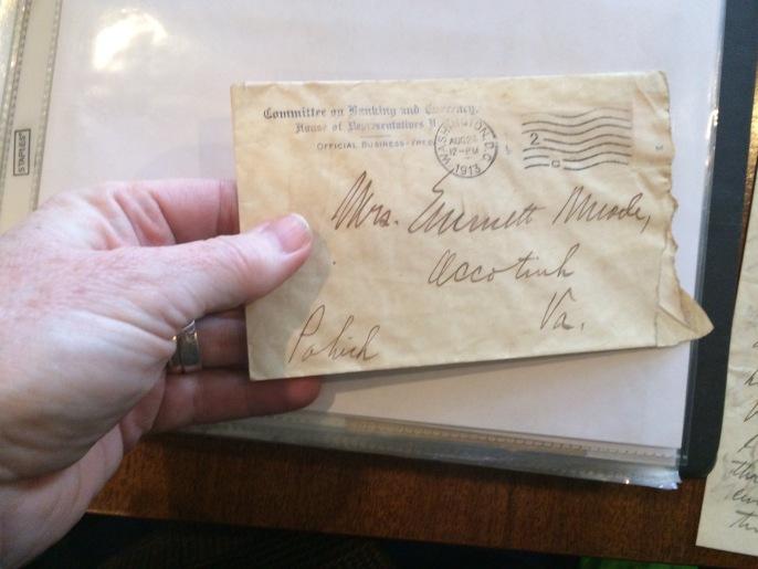 The front of Emmett's envelope.