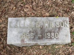 Lalla's buried in Jacksonville. There are no other Wilson family members in the same plot. Source: Find-a-grave
