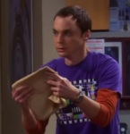 Sheldon realizes he holds the DNA of Leonard Nimoy in his hands. Source: CBS, via YouTube