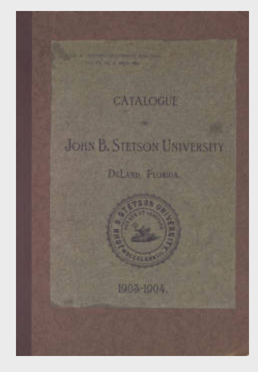 Stetson University Archives has been moving their holdings to digital format. What's nice is that the holdings are also searchable -- a great resource. Source: Stetson University Archives