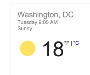 Oh goody. Just one degree short of today's high.