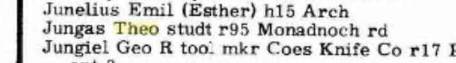 Worcester, Mass. City Directory, 1959. Source: Ancestry.com