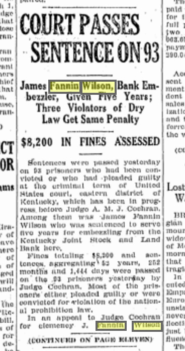 January 20, 1927, page 1, The Lexington Herald. Source: Genealogy Bank.com