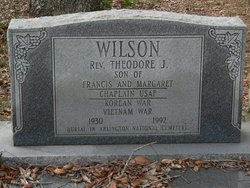 The Rev. Theodore J. Wilson, in Arlington National Cemetery. Source: Ancestry.com