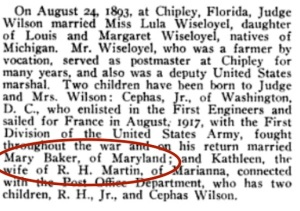 "She actually went by ""Mamie."" Also, she was born in the District of Columbia. Source: U.S. Census"
