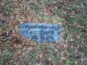 Kathleen Wilson Martin Reynolds Byford. In St. Luke's Cemetery, Marianna, Florida. Source: Findagrave.com