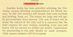 Hamilton House. From the 1902 Stetson University bulletin. Source: Stetson University Archives