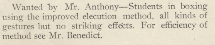 Anthony in search of oratory assistance. Source: Stetson University Archives