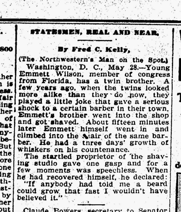 Source: The Daily Northwestern, Oskosh, Wisconsin, May 28, 1914