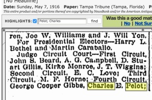 Pelot was up for a circuit court judgeship. Kirke Monroe and Cooper Griggs were friends of Emmett's. Source: Genealogybank.com