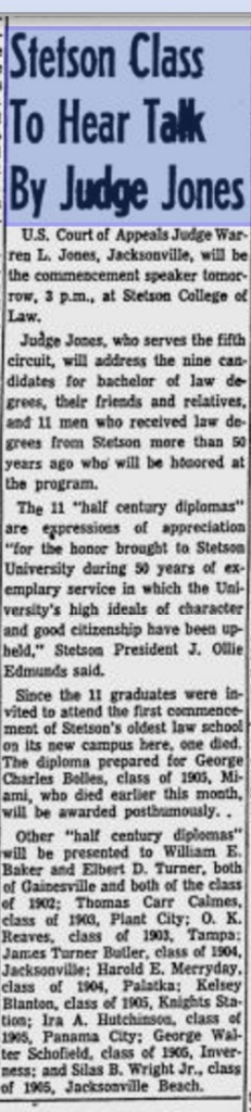 From the St. Petersburg Times, May 25, 1955. Source: Google News Archive
