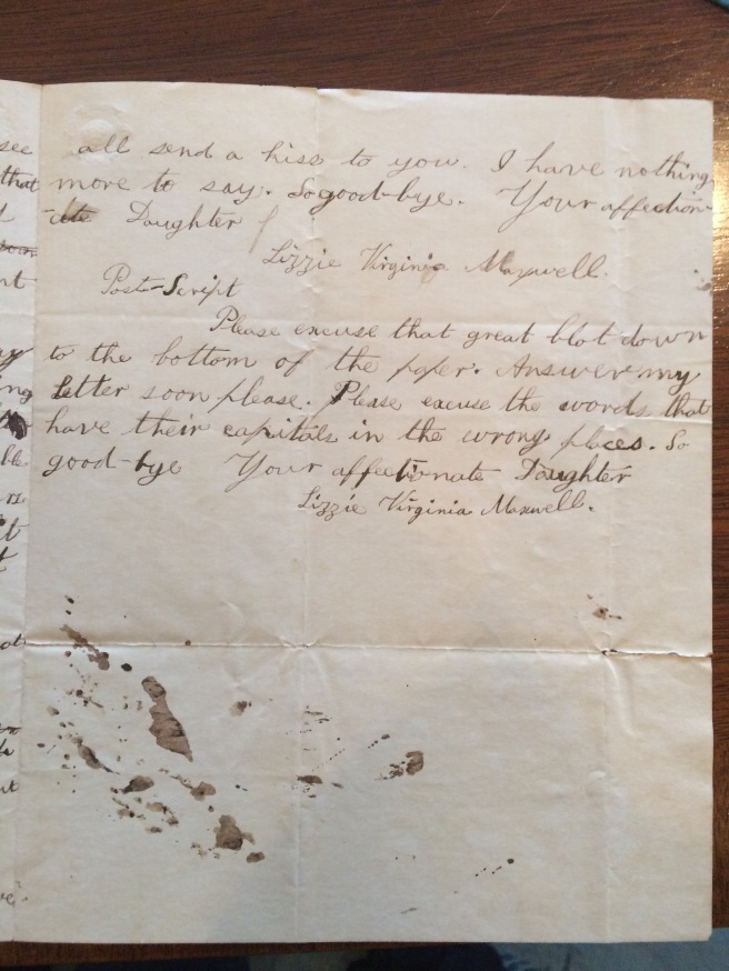 A letter from Emmett's mother to her stepmother, Julia Hawkes Maxwell.