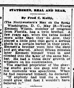 Source: The Daily Northwestern, Oshkosh, Wisconsin. May 29, 1914
