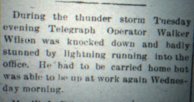 The telegraph operator's job was important -- and dangerous at times. Source: The Chipley Banner, July 1902