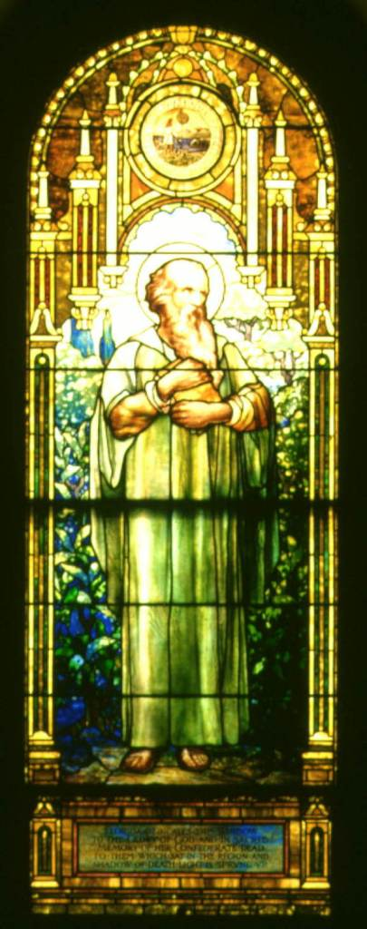 The Florida window at Blandford Church, Petersburg, Virginia. This is the window Emmett helped dedicate in June, 1912. Source: Florida Memory.com