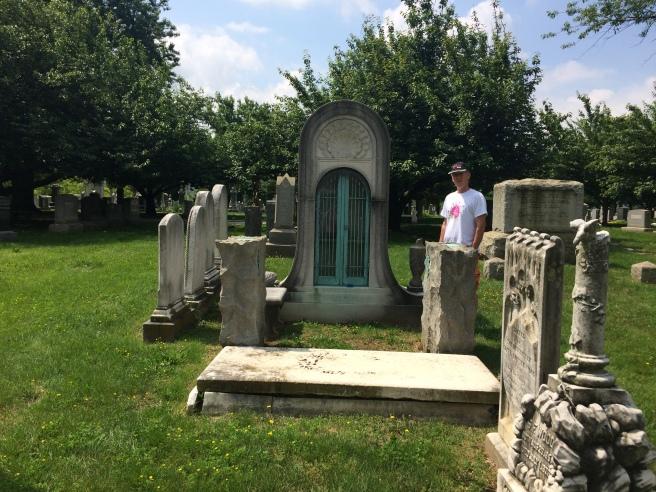 An unusual masoleum erected in memory of