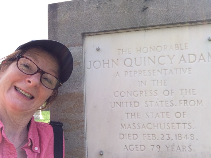 Selfie with John Quincy Adams' cenotaph. Why?