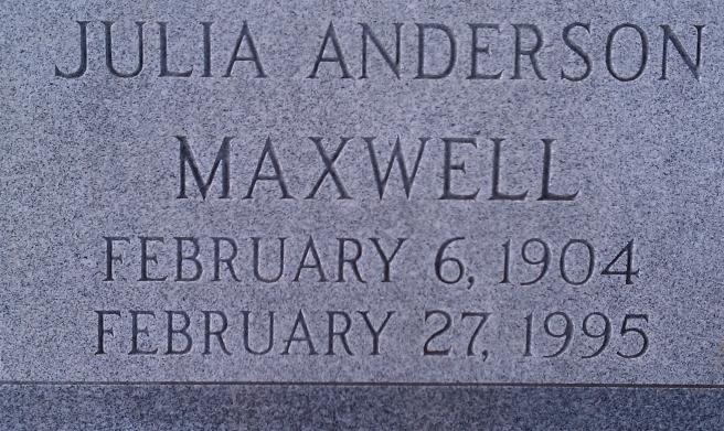 Julia Anderson Maxwell. Source: www.findagrave.com