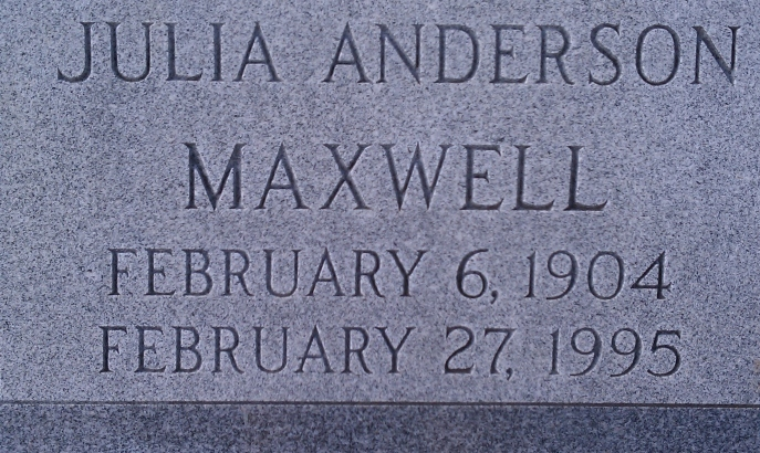Julia Anderson Maxwell. Source: www.findagrave.com