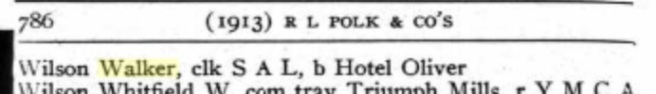 From the 1913 R.L. Polk City Directory for Tampa, Florida.
