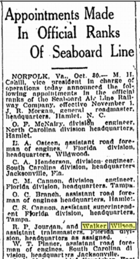 From the October 31, 1924 issue of the Tampa Tribune. Source: genealogybank.com